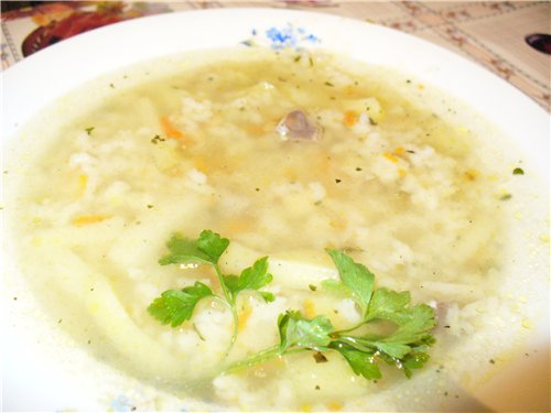 Rice soup - a hearty lunch!