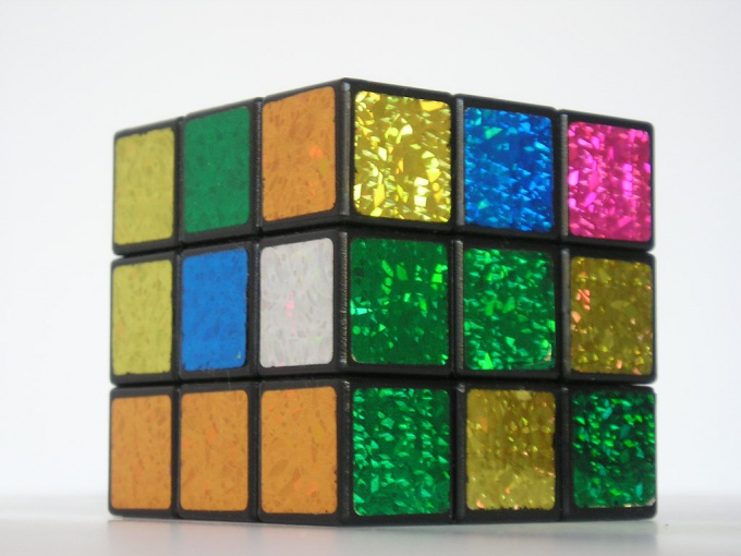 The appearance of the cube