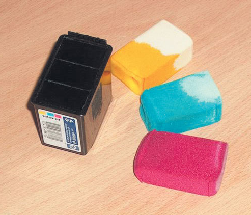 Washed sponges for paint