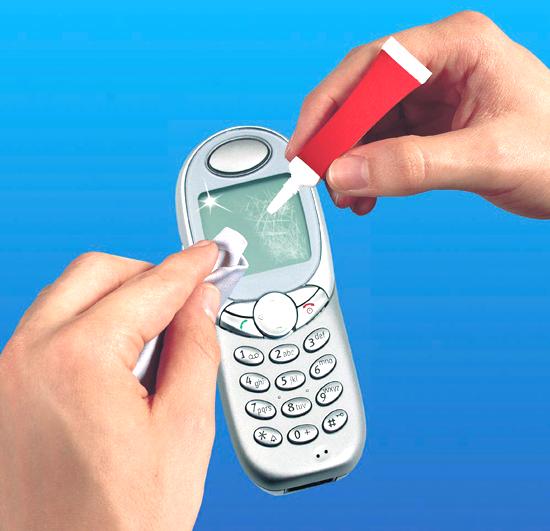 Как убрать трещину с экрана телефона