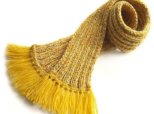 Как вязать шарф резинкой