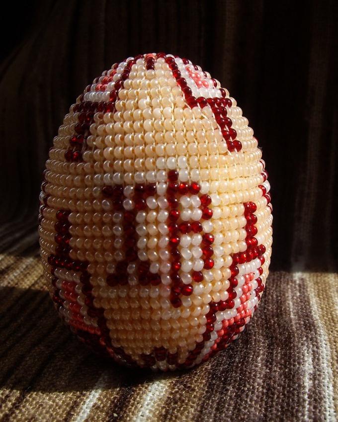 Как сделать яйцо из бисера