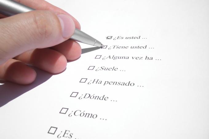Как составлять анкетирование