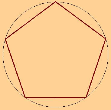 Как чертить пятиугольник