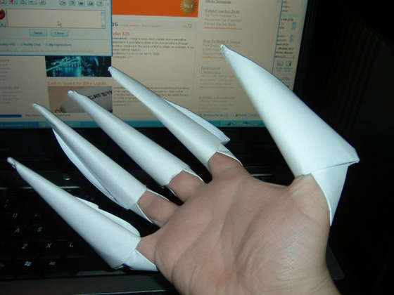 Ногти из бумаги