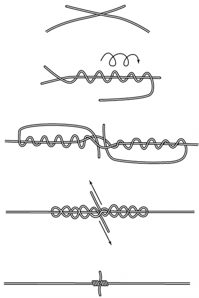 How to tie <strong>node</strong> <b>line</b>