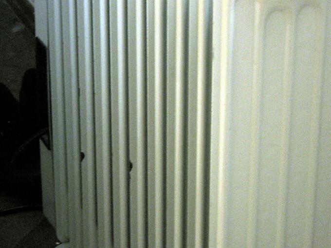 Алюминиевый радиатор может дать течь