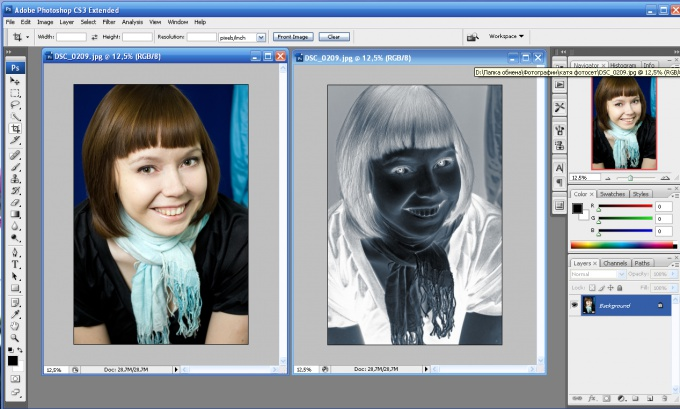 Как сделать в фотошопе негатив