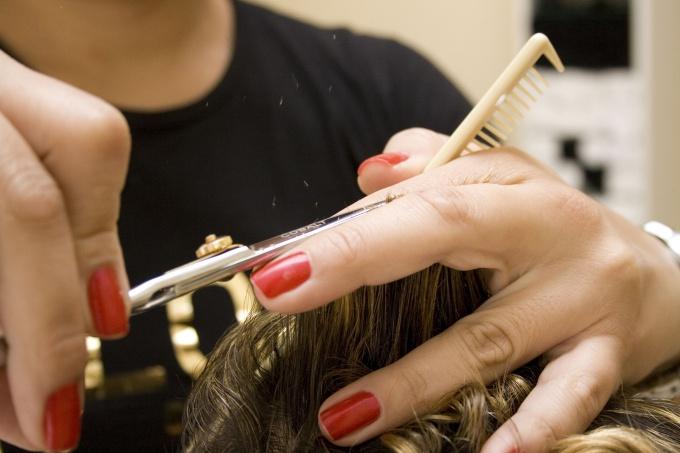How to cut hair ladder