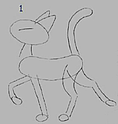 Как нарисовать мультяшных <strong>котов</strong>