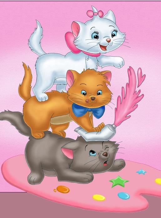 Как нарисовать мультяшных котов