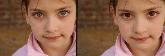How to change eye color in photoshop Russian