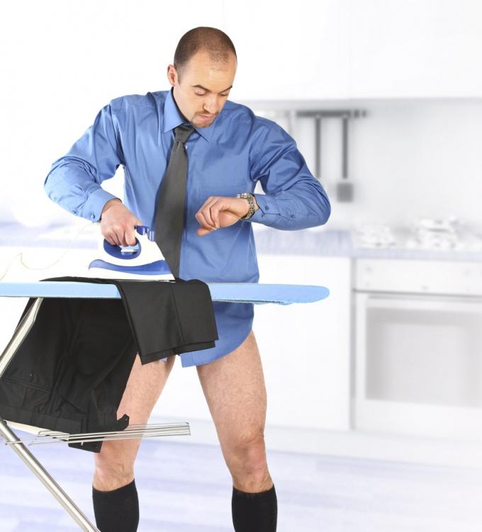 Как гладить мужские брюки