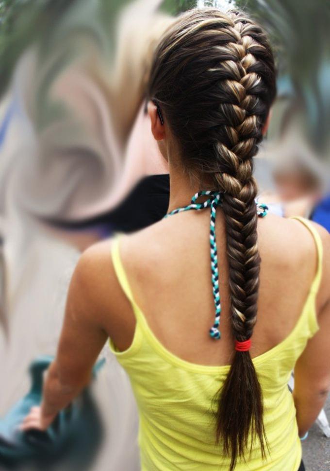 Как плести французкие косички