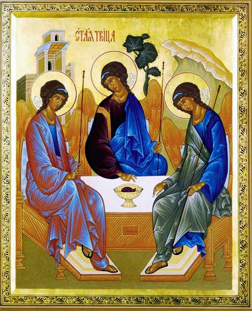 "Icon Of Andrei Rublev's ""Holy Trinity"""