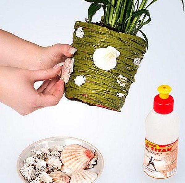 Как декорировать цветочные горшки