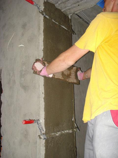 Как штукатурить цементом