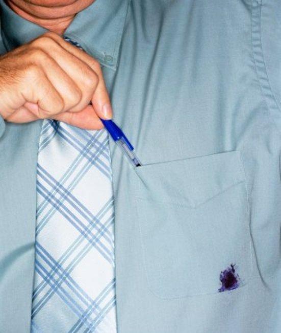 Как вывести чернильное пятно из одежды