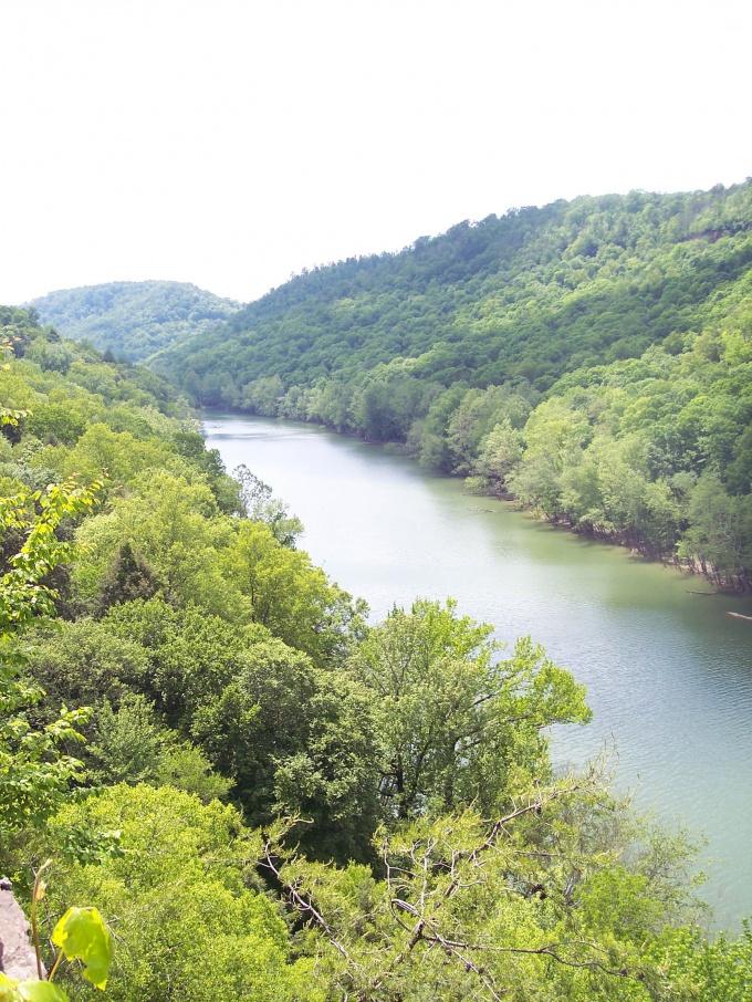 Выберите прямой участок реки