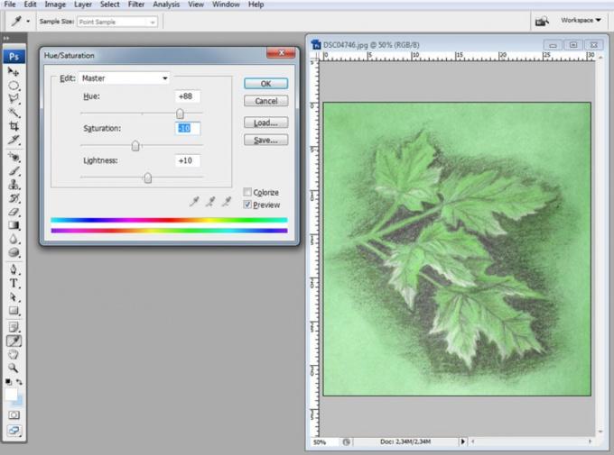 Как изменить цвет рисунка