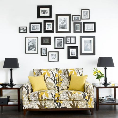 Как развесить фотографии на стене