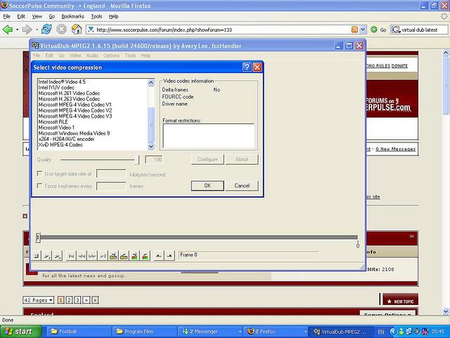 Окно программы Virtual Dub