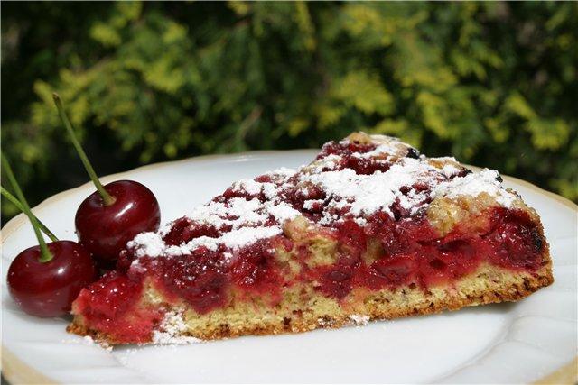 Как готовить вишнёвый пирог