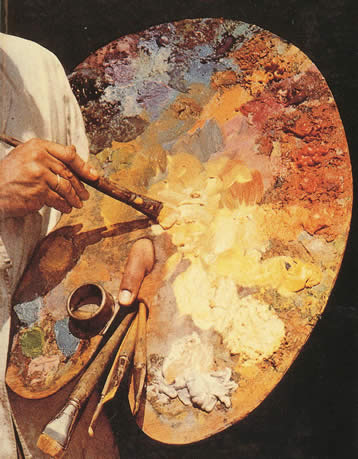 Mixing masnaah paints