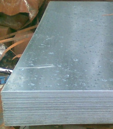Sheets of galvanized steel
