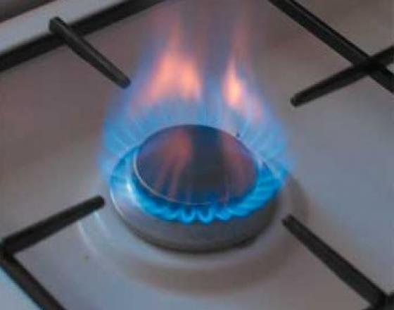 Keep a gas stove clean.