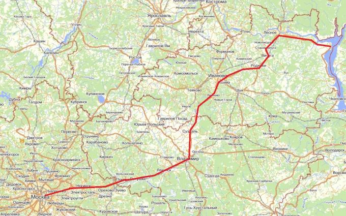 Как определить расстояние на карте