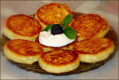 How to fry cheese cakes