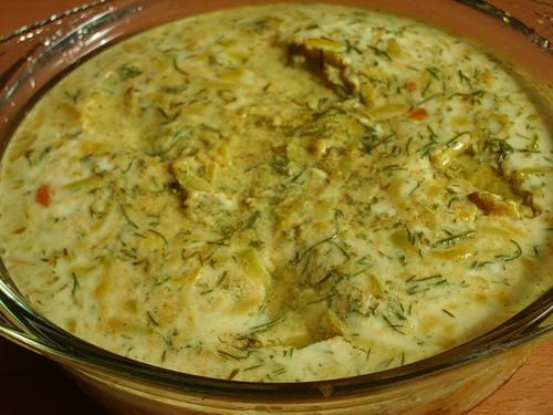 Омлет с кабачками в мультиварке рецепт
