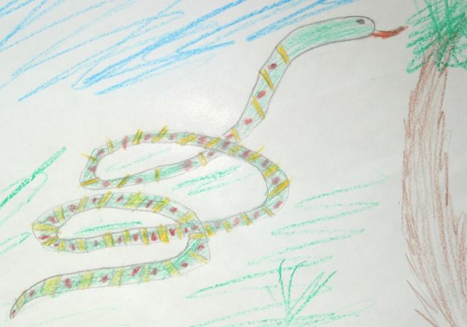 Как нарисовать <strong>змею</strong> <b>карандашом</b>