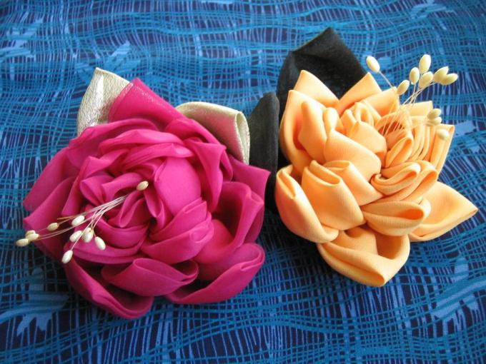 Так выглядят розы, сделанные из ткани