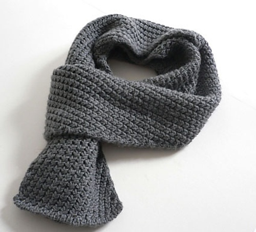 How to tie a mens scarf crochet