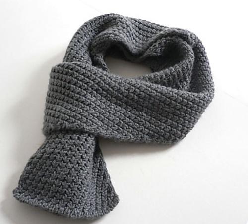 Как связать мужской шарф крючком
