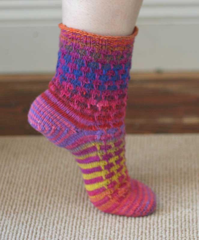 Как вязать резинку на носках