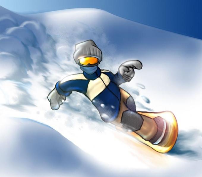 Надписью анечка, открытки с днем рождения сноубордиста
