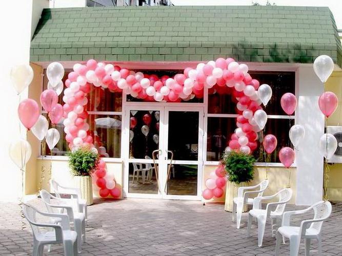 Как украсить шарами свадьбу