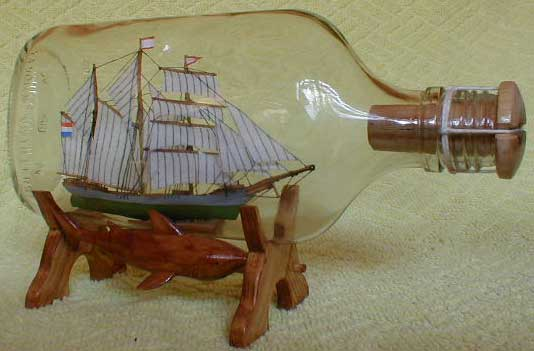 Как сделать кораблик в бутылке своими руками видео