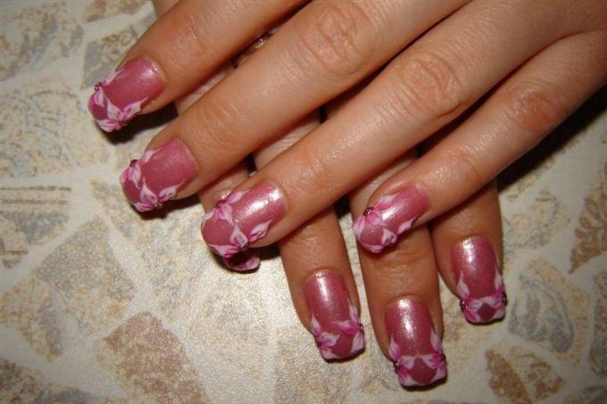 Как рисовать акрилом на ногтях