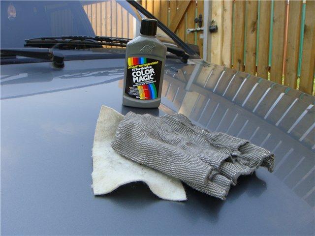Как заполировать царапины на машине