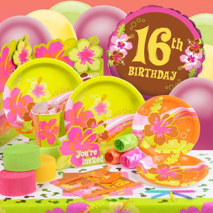 Как отпраздновать 16-летие