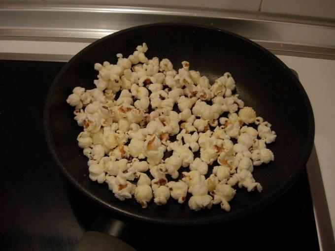 Как приготовить сладкий попкорн