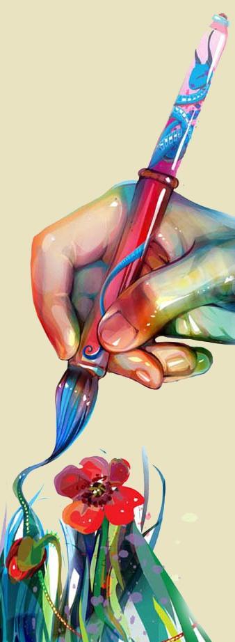 Как раскрасить кисть