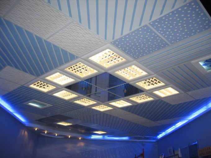 Панели для потолка - стильное решение.