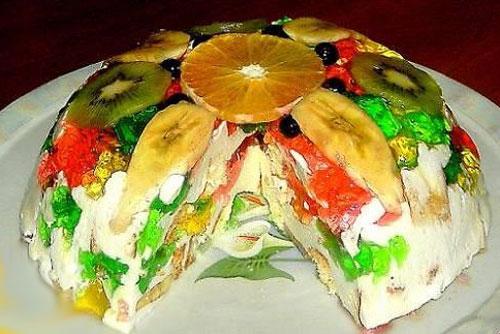 Разноцветный торт - оригинальное лакомство на вашем столе