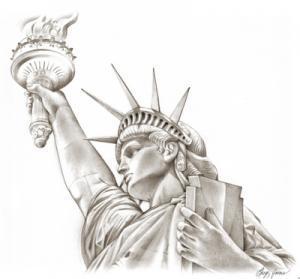 Как нарисовать Статую Свободы