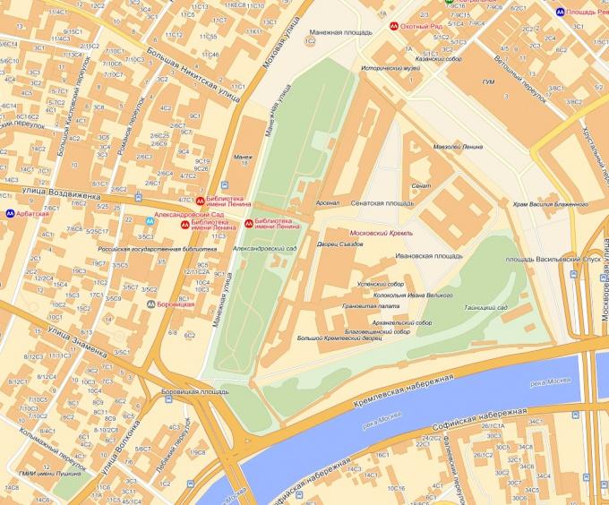 Как найти карту Москвы